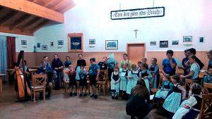 Jeden Mittwoch probt der Kinderchor im Lindenheim für die bevorstehende Veranstaltung.
